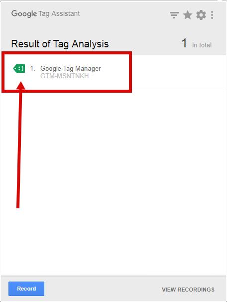 Проверяем правильность установки диспетчера тегов с помощью Google Tag Assistant