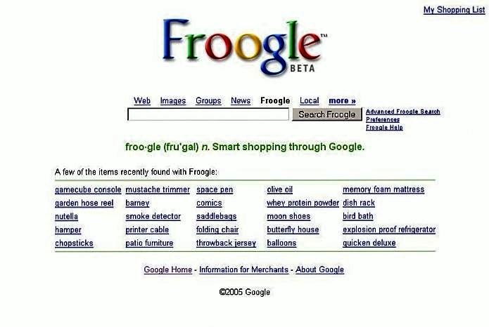 Сервис Froogle