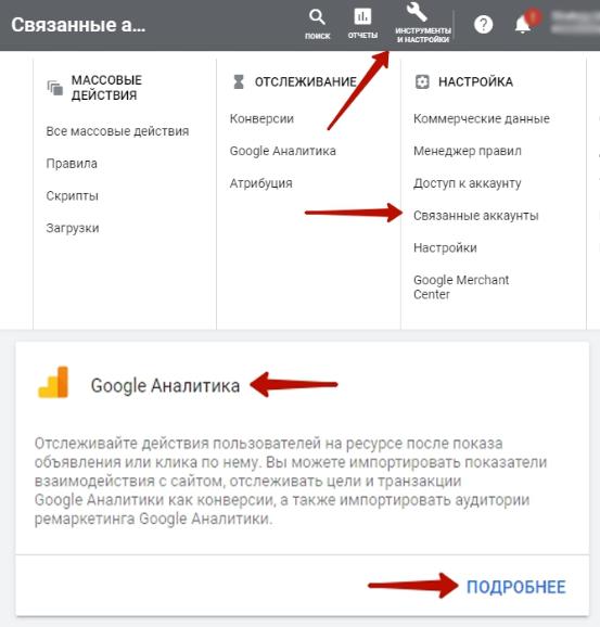 связь Google Analytics и Гугл Рекламы